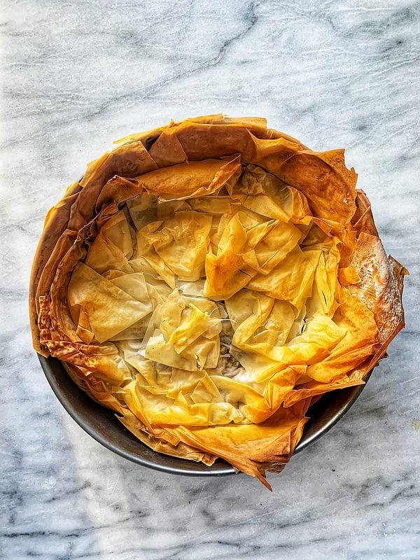 Crispy Creamed Mushroom Phyllo Pie