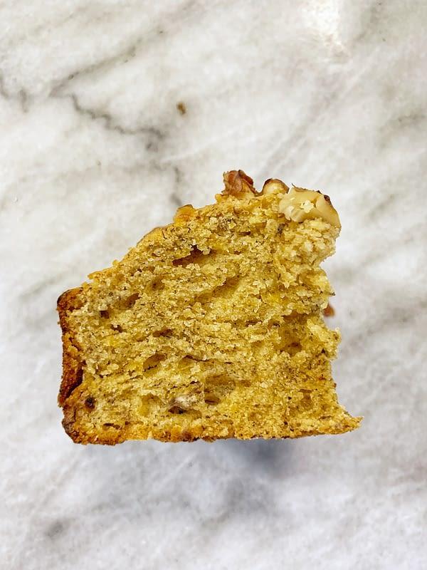Sweet plantain bread crumb